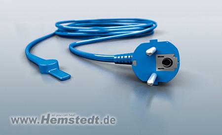 Hemstedt ® protección contra heladas-heizleitung 230v x cable de calefacción para tuberías 2m hasta 48m
